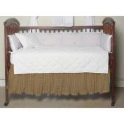 Patch Magic Dark Brown Plaid Fabric Crib Dust Ruffle
