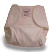 Newborn Cotton Wrap Nappy Cover in Brown