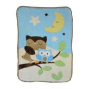 Just Born Goodnight Owl Hi-Pile Blanket