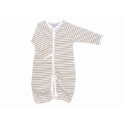 Nature's Nursery Convertible Baggie Baby Clothing in Tan Stripes