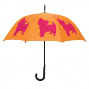 Dog Park Yorkshire Terrier French Bulldog Walking Silhouette Stick Umbrella