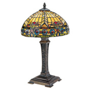 The Carlisle Beaux-Arts Stained Glass Table Lamp