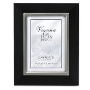 Lawrence Frames 95146 Lawrence Frames 4x6 Black Wood Picture Frame with Brushed Pewter Metal Inner Bezel