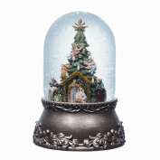 Musical Glitterdome Nativity with Tree
