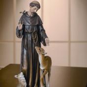 Renaissance St. Francis with Deer Figurine
