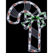 40 Light Candy Cane Window