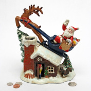 Santa's Christmas Sleigh Ride Mechanical Coin Bank