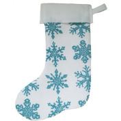 Snowflake Block Print Stocking