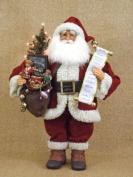 Crakewood Lighted Vintage Gift Bag Santa Claus Figurine