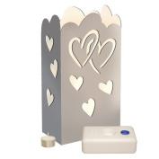LumaLantern Heart Kit with 7 Hour Tea Light Candles