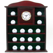 Trademark Stunning Solid Wood Golf Ball Holder with Quartz Clock