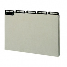 A thru Z Pressboard File Guide, 1/5 Tab Cut, Legal, Grey