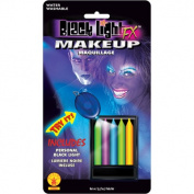 Black Light Makeup Pencils Rubies 19504, One Size