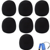 Bluecell Black Colour 7 Pack of Microphone Windscreen Foam Cover