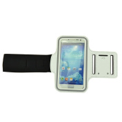 New White Protective Jogging running Sports Gym Armband Case Cover For for Samsung Galaxy S4 SIV i9500,Galaxy Note II N7100,Galaxy S2 S3 i9300 / Htc One (M7) / Nokia Lumia / Sony Xperia
