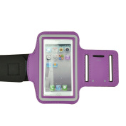 Purple Running Sport GYM Armband Protective Case for Apple iPhone 5 / 5S / 5C / iphone 4 /4S / iPod Touch 4th