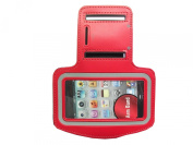 Etimedeal Running Sports Workout Gym Armband Case for Iphone 3g 3gs 4 4g 4s -Red