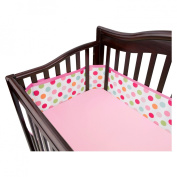 Breathable Mesh Crib Liner by BreathableBaby - Pink Dot