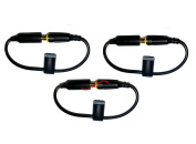 3 x Headphone Adapter with Grey Jack Cover for iPhone 5 LifeProof Cases
