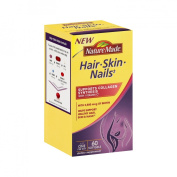 Nature Made Dietary Supplement for Healthy Hair, Skin and Nails - 60 Softgels