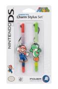 PowerA Nintendo Licenced Character Charm Stylus Twin Pack - Mario & Yoshi