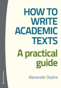 How to Write Academic Texts