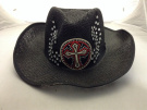 Cowboy Hat with White and Red Cross with Rynstones