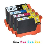 10x(4b+2c+2m+2y) Ink Cartridge Compatible Dell 31/32/33/34 Dell V525w V725w with Chip