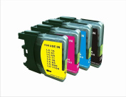 4 PK LC 61 Compatible Ink Cartridge for Brother MFC 6890CDW J220 J265W DCP-165C DCP-375CW DCP-385CW