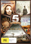 The Christian 5-Pack (The Song of Bernadette / Francis of Assisi / The Bible...in the Beginning / the Greatest Story Ever Told / [Region 4]