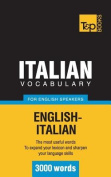 Italian Vocabulary for English Speakers - 3000 Words