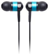 Earjax - Moxy Earbud Headphones - Black/Turquoise