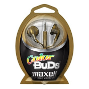 Maxell - Colour Buds Stereo Earphone - Gold