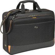Solo - Urban Ultra Portfolio Laptop Briefcase - Black/Orange