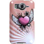 BasAcc - Crowned Heart Phone Case Cover for HTC Inspire 4G