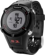 Garmin - Approach S2 Golf GPS Watch - Black/Red