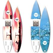 Action Sport Drives - Roxy 2 Pack 16GB SurfDrive USB Flash Drive, Sunset, Aqua
