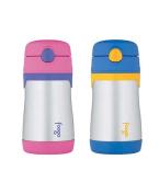 THERMOS FOOGO 330ml Straw Bottle, Pink/Purple