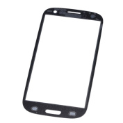 Primeshop-Replacement Front Screen Glass Lens Parts & Repair Kit for Samsung Galaxy S3 SIII GT-i9300, Black