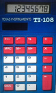 TI-108 Single Pocket Calculator - Blue
