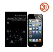 PowerDigital(TM) Premium Bubble Free Anti-Glare Screen Protector for iPhone 5 with Lint Cleaning Cloth (Retail Packaging) - 3 Pack