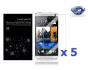 PowerDigital(TM) 5 Pack Diamond Sparkling Glitter Screen Protector for HTC One / HTC M7