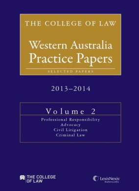 The College Of Law Practice Papers 2013 The College Of