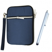 Soft Sleeve Pouch Bag for ipad Mini / for Samsung Galaxy Tab 3 20cm / for Samsung Galaxy Note 8.0 (Blue) + Stylus pen