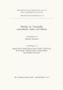 Beitrage Zur Geographie Orientalischer Stadte Und Markte (Tubinger Atlas Des Vorderen Orients  [GER]