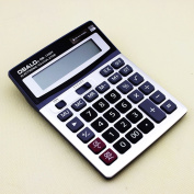 Durable OSALO OS-1200V Solar Power Digital Electronic Office Calculator with large display and plastic key.