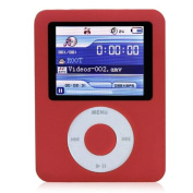 Ravo New MP3 MP4 Player with LCD Screen FM Radio Games & Movie Player - Red - 8GB