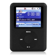 Ravo Branded New MP3 MP4 Player(3th Gen) with LCD Screen FM Radio Games & Movie Player 8G - Black