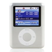 Ravo Branded 8GB New LCD Screen MP3/MP4 Player with FM Radio Games & Movie Player - Silver