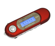 Generic M6 Red Digital Mp3 Player for 2gb 4gb 8gb Tf/micro Sd Card Backlight LED